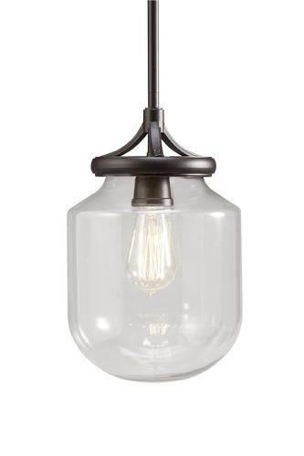 "Patriot Lighting 7.97"" Olde Bronze Judd 1 Light Pendant | $ (View 4 of 15)"