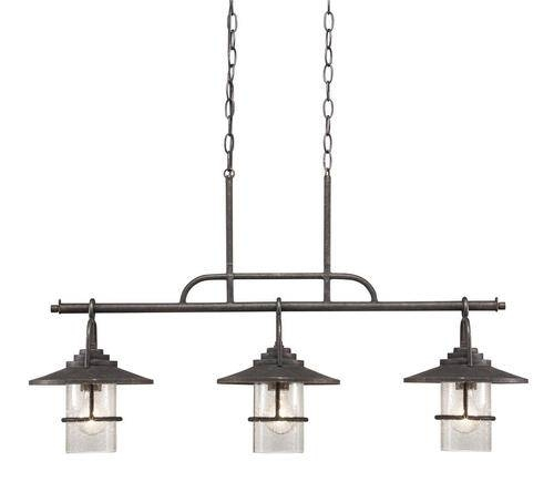 Patriot Lighting® Elegant Home 3 Light Miner Bronze Island Light Intended For Patriot Pendant Lighting (#6 of 15)