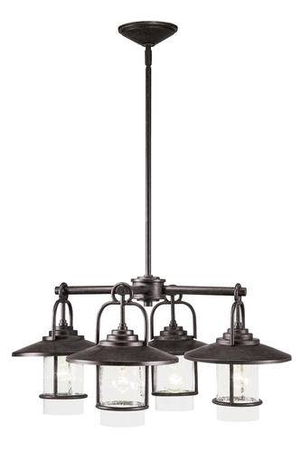 Patriot Lighting® Elegant Home Miner Bronze 4 Light Chandelier At Inside Patriot Lighting Pendants (View 12 of 15)