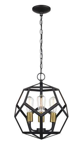 Patriot Lighting® Suzanna 3 Light Oil Rubbed Bronze Pendant Light With Patriot Lighting Pendants (View 7 of 15)