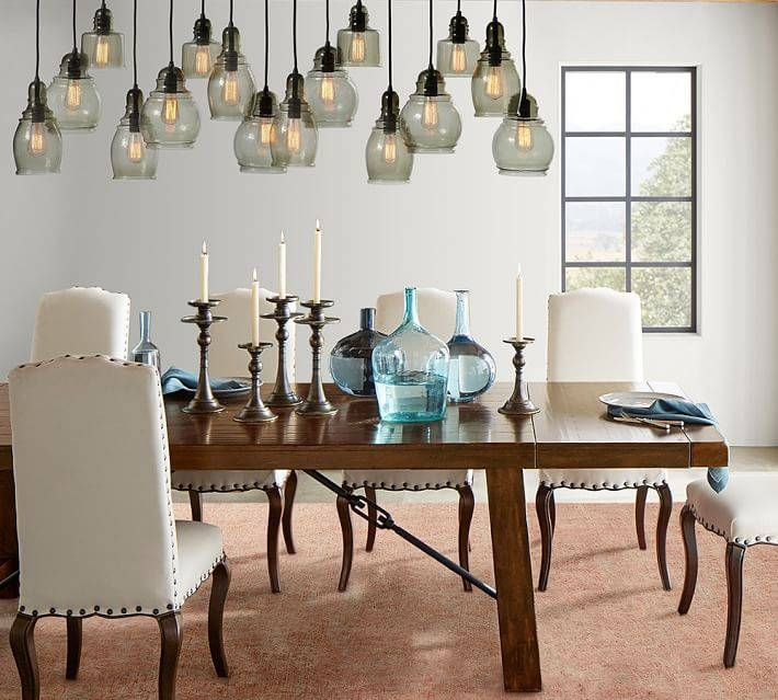 Paxton Glass 16 Light Pendant | Pottery Barn In Paxton Hand Blown Glass 8 Lights Pendants (View 11 of 15)