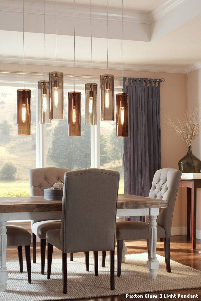 Paxton Glass 3 Light Pendant With Moderne Salle De Bain Within Paxton Glass 3 Lights Pendants (#6 of 15)