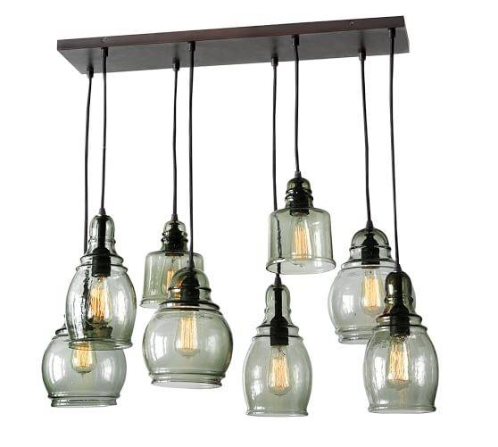 Paxton Glass 8 Light Pendant | Pottery Barn Pertaining To Glass 8 Lights Pendants (#13 of 15)