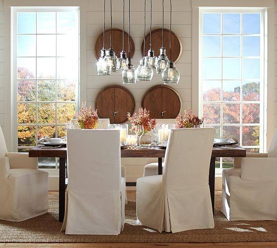 Paxton Glass 8 Light Pendant | Pottery Barn | The Country House With Paxton Pendant Lights (#10 of 15)