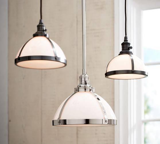 Pb Classic Pendant – Milk Glass | Pottery Barn In Milk Glass Pendant Lights (View 2 of 15)