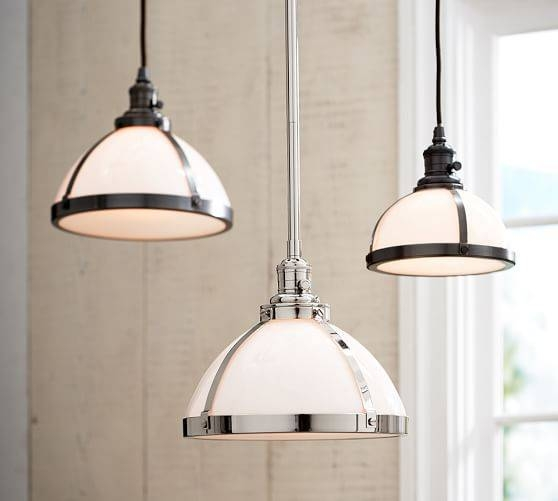 Pb Classic Pendant – Milk Glass | Pottery Barn With Milk Glass Pendant Lights Fixtures (View 3 of 15)