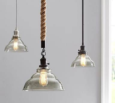 Pb Classic Pendant – Vintage Glass | Pottery Barn Within Rope Cord Pendant Lights (View 9 of 15)