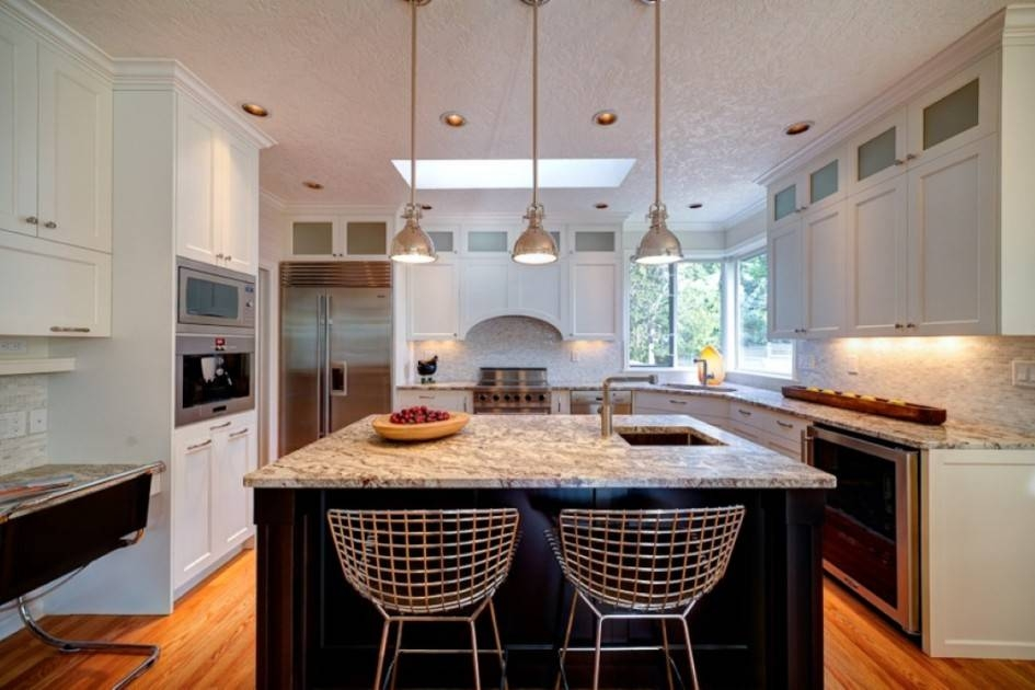 Peerless Black Kitchen Islands With Granite Top And Stainless For Stainless Steel Kitchen Lights (View 15 of 15)