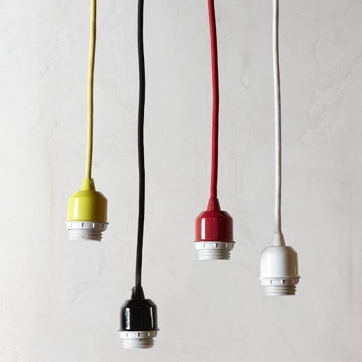 Pendant Cord Set | West Elm In Cord Sets For Pendant Lights (#11 of 15)