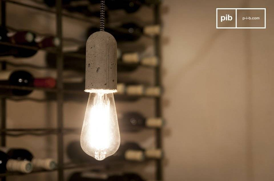 Pendant Light Nud Cement – Original Industrial Look | Pib Regarding Nud Pendant Lights (#13 of 15)