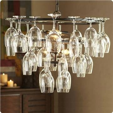 Pendant Light With 6 Lights In Wine Glass Feature In Wine Glass Pendant Lights (#13 of 15)