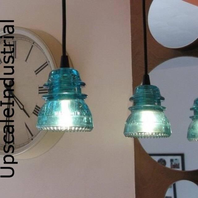 Pendant Light/glass Insulator/kitchen Island/lighting Intended For Antique Insulator Pendant Lights (#11 of 15)
