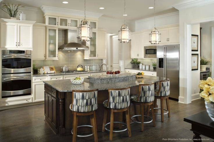 Pendant Lighting Over Kitchen Island |  The Perfect Amount Of Pertaining To Pendants For Kitchen Island (#13 of 15)