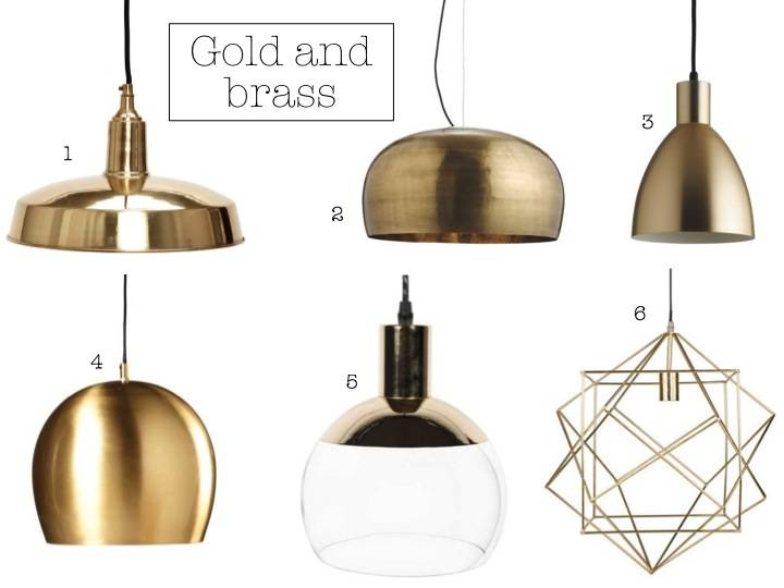 Pendant Lighting Roundup; Affordable And Chic Ceiling Chandelier With Black And Gold Pendant Lights (#12 of 15)