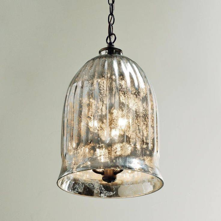 Pendant Lighting : Unique Mercury Glass Shade For Pendant Light Regarding Mercury Glass Lighting Fixtures (#14 of 15)
