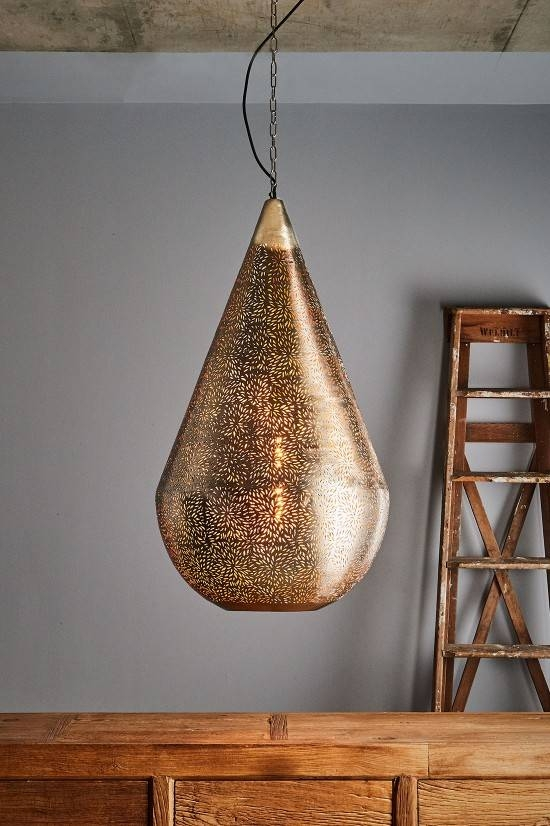 15 Photo Of Punched Metal Pendant Lights