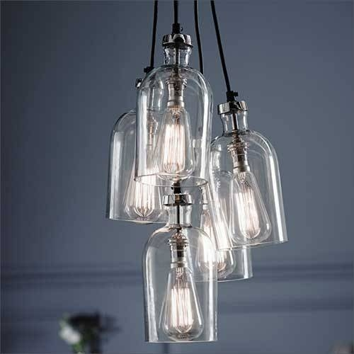 15 Ideas Of Cluster Glass Pendant Light Fixtures