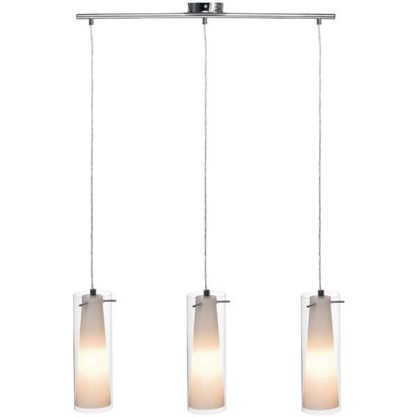 Pinto 3 Light Double Glass Pendant,lighting,beacon Lighting Within Double Pendant Lighting (#13 of 15)