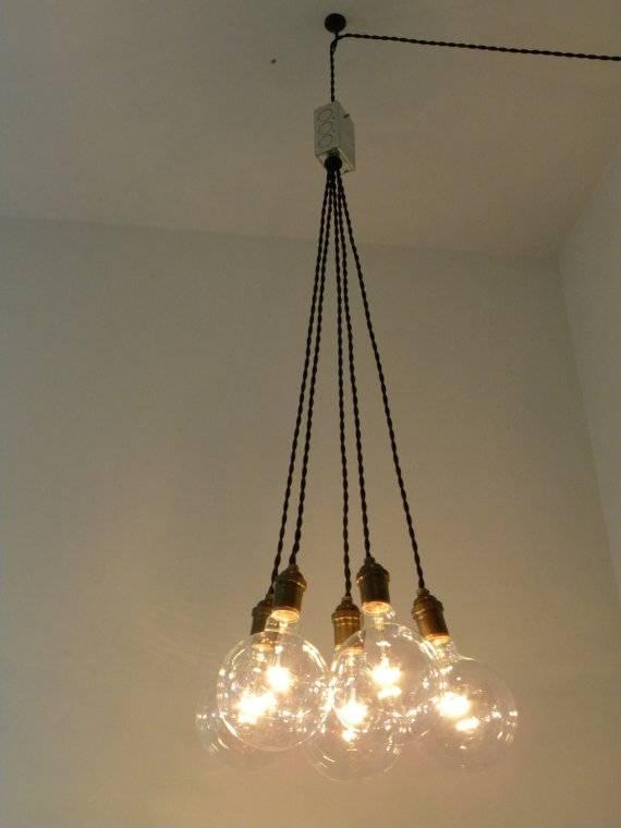 Plug In Cluster Chandelier Pendant Lighting Modern Swag Custom Regarding Etsy Pendant Lights (#13 of 15)