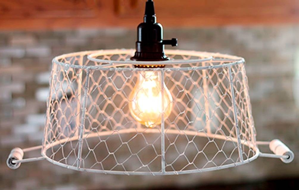 Plug In Pendant Light Chicken Wire Basket : How To Plug In Pendant For Chicken Wire Pendant Lights (#11 of 15)