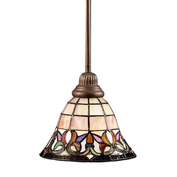 Inspiration about Portfolio Art Nouveau Bronze Flora Mini Pendant Light With Tiffany Throughout Portfolio Mini Pendants (#12 of 15)