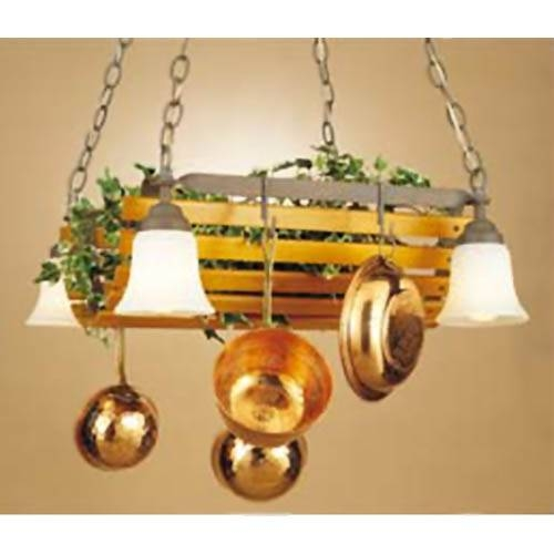 Pot Racks | Hanging, Lighted, Chandelier, Stainless Steel Inside Pot Holder Lights Fixtures (#14 of 15)