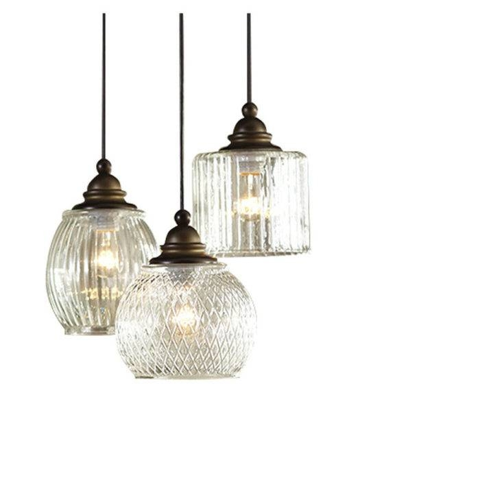 Pottery Barn Paxton Glass 3 Light Pendant | Decor Look Alikes Throughout Paxton Glass Pendants (#12 of 15)