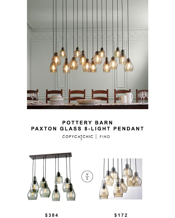 Pottery Barn Paxton Glass 8 Light Pendant – Copycatchic For Glass 8 Lights Pendants (#15 of 15)
