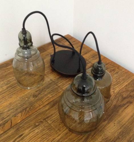 Pottery Barn Pb Paxton Hand Blown Glass Three 3 Light Pendant Throughout Paxton Pendant Lights (#14 of 15)