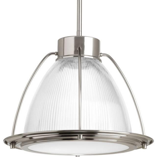Progress Lighting P5143 Led Prismatic Glass 1 Light Led Pendant Inside Brushed Nickel Pendant Lighting (View 10 of 15)