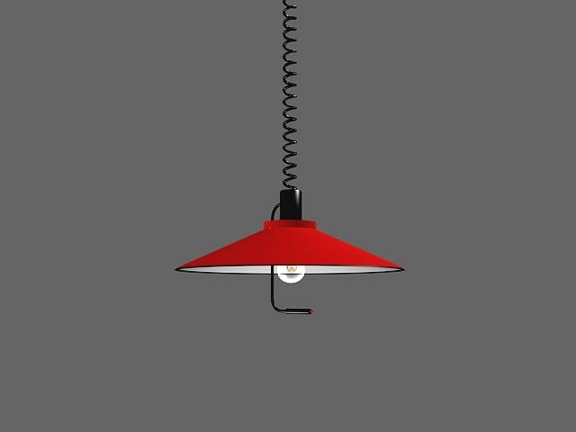Pull Down Light Fixture 3d Model 3dsmax Files Free Download Intended For Retractable Pendant Lights Fixtures (View 5 of 15)