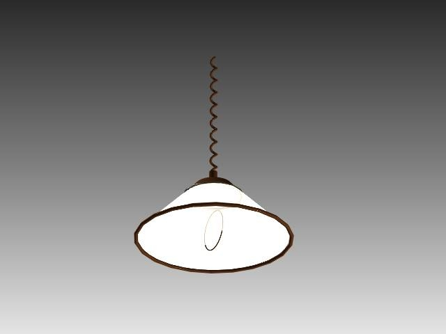 Pull Down Pendant Light 3D Model 3D Studio,3Ds Max,autocad Drawing Inside Pull Down Pendant Lighting (#12 of 15)