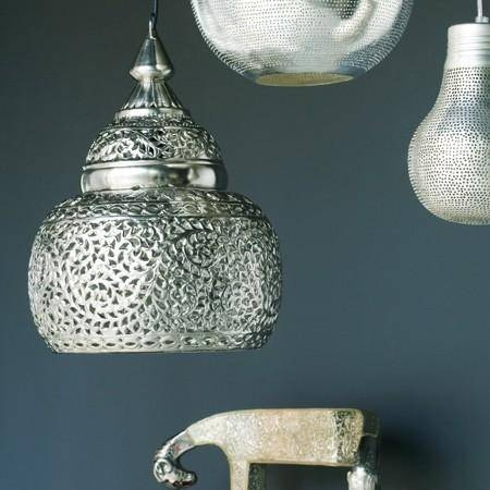 Punched Metal Pendant Light Within Punched Metal Pendant Lights (#11 of 15)