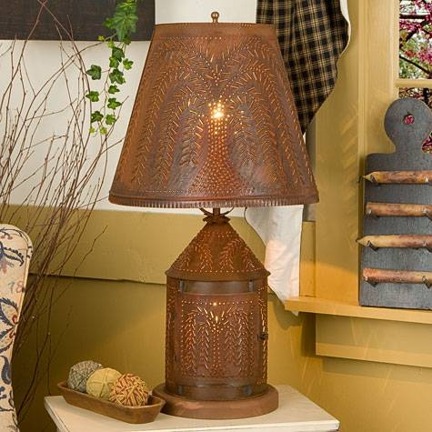 Punched Tin Lighting And Punched Tin Chandeliers For Punched Tin Lighting Fixtures (#8 of 15)