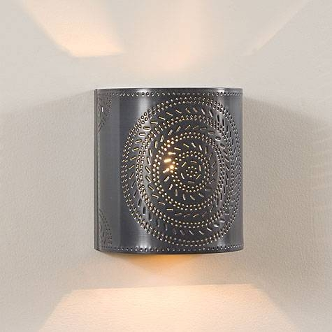 Punched Tin Lighting And Punched Tin Chandeliers For Punched Tin Lighting Fixtures (#7 of 15)