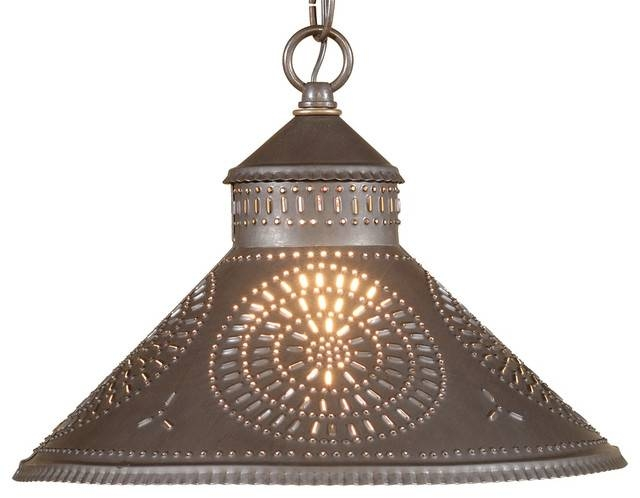 Punched Tin Pendant Shade Light – Mediterranean – Pendant Lighting Intended For Punched Metal Pendant Lights (#13 of 15)