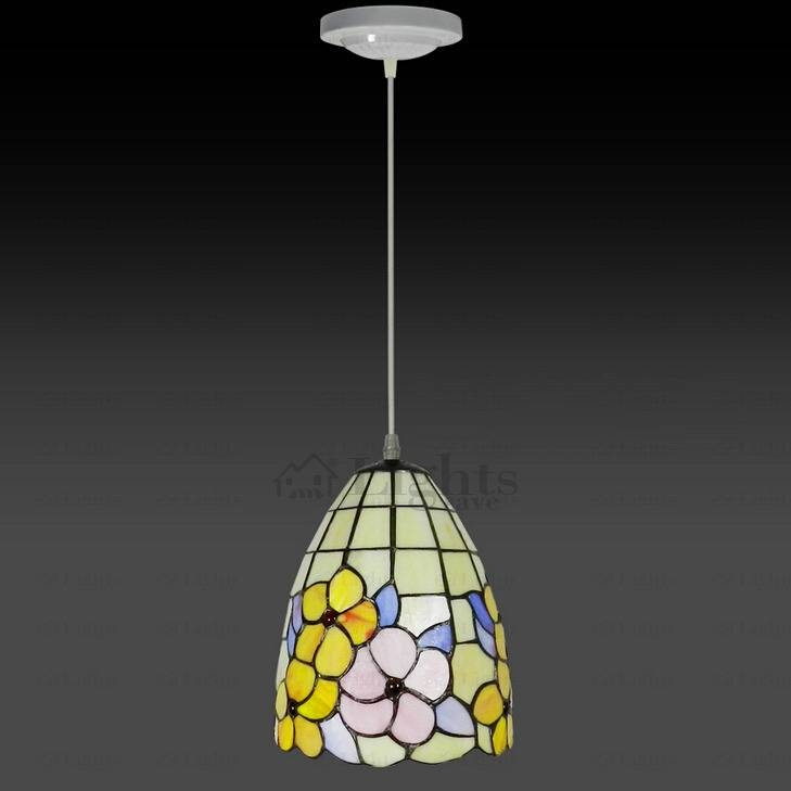 Inspiration about Quality Floral Stained Glass Tiffany Mini Pendant Light Throughout Stained Glass Mini Pendant Lights (#8 of 15)