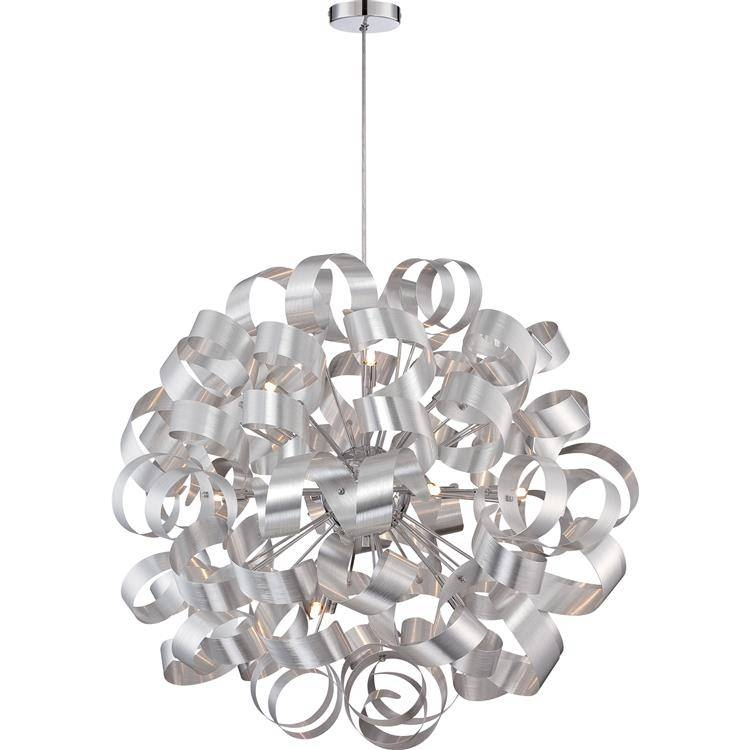 "Inspiration about Quoizel Rbn2831Mn Ribbons Modern Millenia Finish 31"" Tall Hanging Throughout Quoizel Pendant Light Fixtures (#14 of 15)"