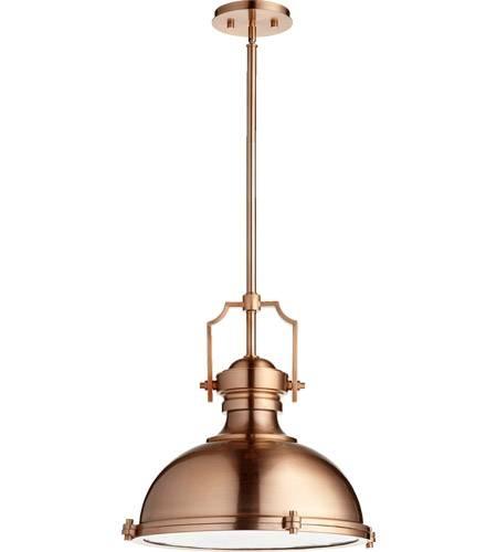 Inspiration about Quorum 814 20 49 Hinge 3 Light 20 Inch Satin Copper Pendant Inside Quorum Pendant Lights (#8 of 15)