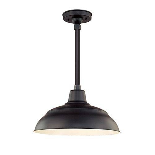 R Series Galvanized 17 Inch Warehouse Cord Hung Outdoor Pendant In Warehouse Pendant Light Fixtures (View 6 of 15)