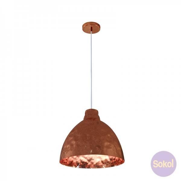 Rakish Hammered Copper Pendant Light – Bell   Pendant Lights   Sokol With Hammered Copper Pendants (View 5 of 15)