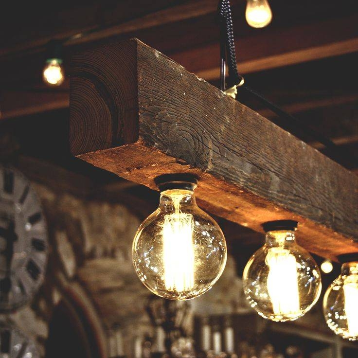 Reclaimed Wood Beams Best Diy | Id Lights Intended For Reclaimed Pendant Lighting (View 9 of 15)