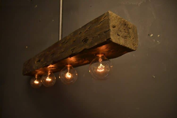 Reclaimed Wood Chandelier Light Fixture | Id Lights Throughout Reclaimed Pendant Lighting (View 2 of 15)