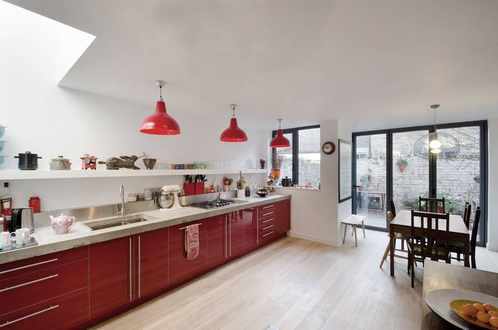 Inspiration about Red Pendant Light Kitchen Contemporary With Clear Dining Pendant Inside Red Kitchen Pendant Lights (#2 of 15)