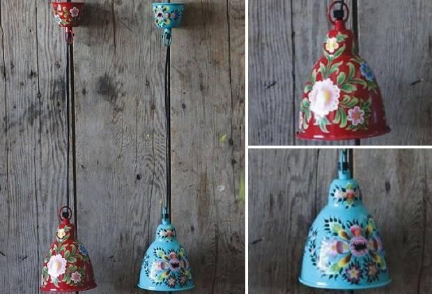 Red Pendant Light   Metal Pendant Light   Vintage Pendant Antique With Mexican Pendant Lights (#14 of 15)
