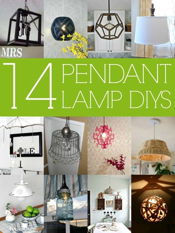 Remodelaholic | 14 Great Diy Pendant Lights And Link Party With Regard To Diy Pendant Lights (View 5 of 15)
