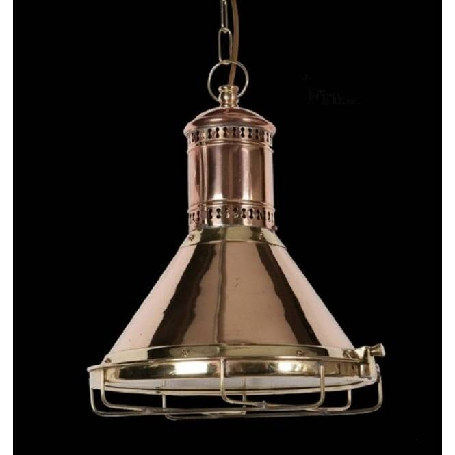 Reproduction Copper Cargo Ship Ceiling Pendant Light Hanging On Chain Regarding Victorian Pendant Lighting (View 11 of 15)