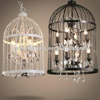 Rh Home Restaurant Decor Rustic Bird Cage Hanging Lighting For Birdcage Pendant Lights Chandeliers (#15 of 15)