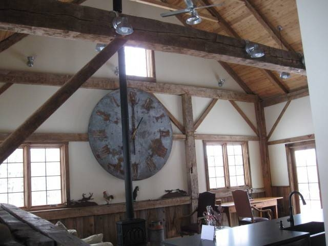 Rustic Ceiling Fans Without Lights Galvanized Barn Lights Ceiling Intended For Galvanized Barn Lights (#12 of 15)