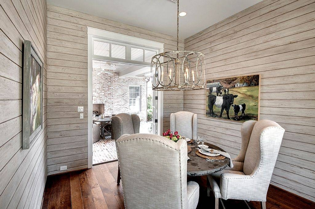 Rustic Dining Room With French Doorswanda Taylor | Zillow Digs With Troy Sausalito Pendants (View 11 of 15)